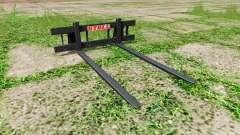 Stoll long pallet fork para Farming Simulator 2017