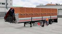 Plataforma semi remolque con carga