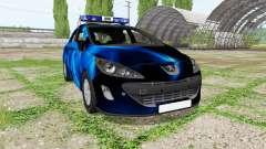 Peugeot 308 (T7) Police blue