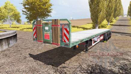 Kogel flatbed trailer para Farming Simulator 2013