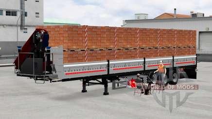 Plataforma semi remolque con carga para American Truck Simulator