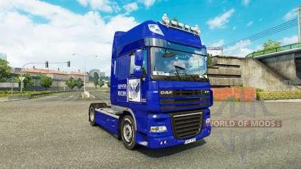 La piel de Correos de Rusia en camión DAF XF para Euro Truck Simulator 2