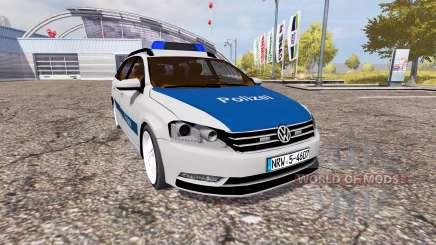 Volkswagen Passat Variant (B7) Polizei para Farming Simulator 2013