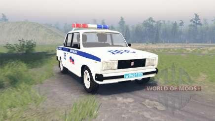 Lada VAZ 2105 DPS para Spin Tires