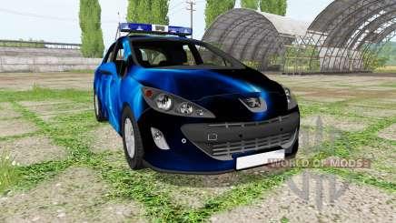 Peugeot 308 (T7) Police blue para Farming Simulator 2017