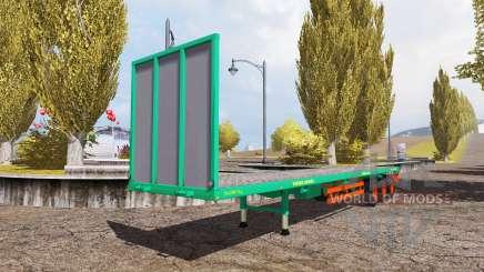 Aguas-Tenias bale semitrailer v2.5 para Farming Simulator 2013