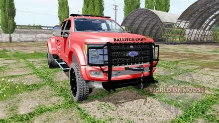 Ford F-450 fire service para Farming Simulator 2017