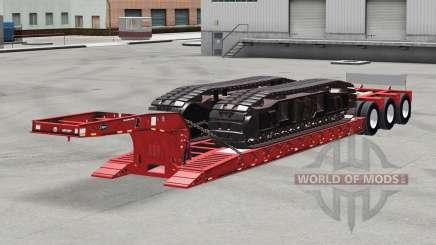 Baja de barrido Etnyre con pesos v2.0 para American Truck Simulator