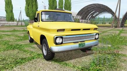 Chevrolet C10 Fleetside 1966 4x4 v1.1 para Farming Simulator 2017