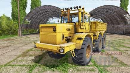 Kirovets K 701 6x6 dump truck para Farming Simulator 2017