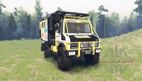 Mercedes-Benz Unimog U1650 Dakar para Spin Tires