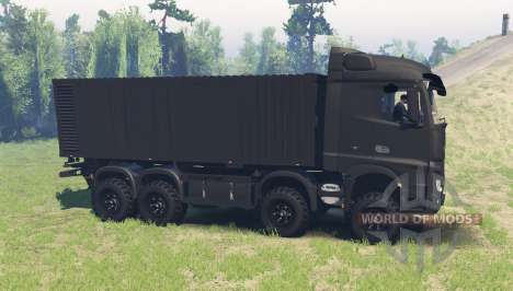 Mercedes-Benz Actros (MP4) chassis para Spin Tires