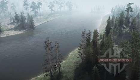 Carretera de la selva 2 para Spintires MudRunner