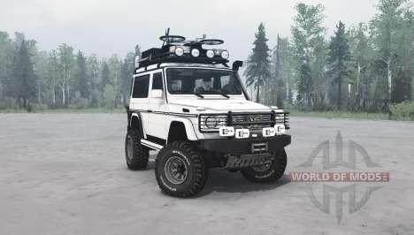 Mercedes-Benz G 500 SWB (W463) v1.1 para Spintires MudRunner