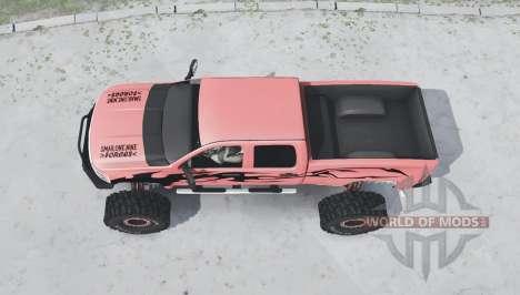Chevrolet Silverado 2500 HD Crew Cab Duramax para Spintires MudRunner
