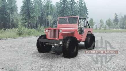 Willys MB off-road para MudRunner