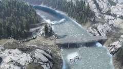 Río de montaña para Spin Tires