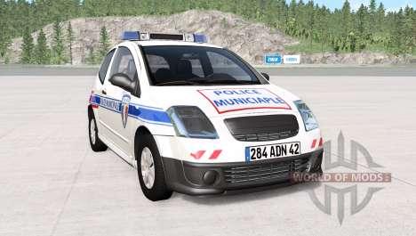 Citroen C2 French Police para BeamNG Drive