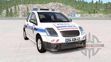 Citroen C2 police skins pack para BeamNG Drive