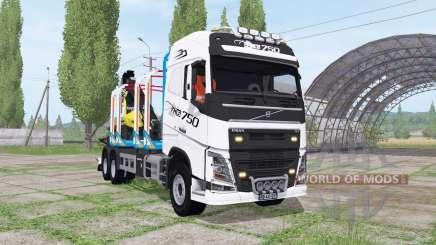 Volvo FH16 750 6x4 Globetrotter Timber Truck para Farming Simulator 2017