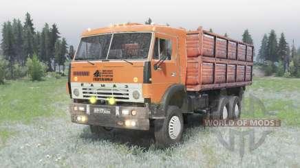 El 6x4 KamAZ 5320 v2.0 para Spin Tires