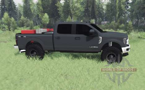 Ford F-350 Super Duty Crew Cab 2017 para Spin Tires
