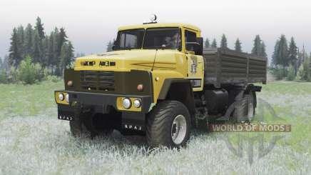 KrAZ 260 4x4 amarillo para Spin Tires