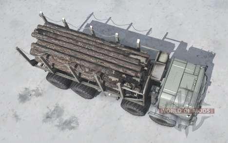 KamAZ 63501 Polar para Spintires MudRunner