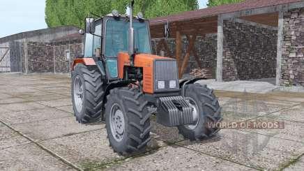 MTZ-1221 Belarús selección de color de la v1.1 para Farming Simulator 2017