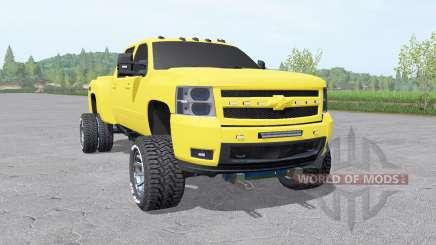 Chevrolet Silverado 3500 HD Crew Cab 2007 v2.0 para Farming Simulator 2017