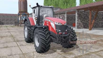 Massey Ferguson 8740 S More Realistic v1.1 para Farming Simulator 2017