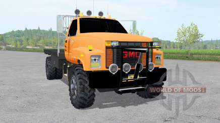 GMC TopKick C7500 Regular Cab 1994 flatbed para Farming Simulator 2017