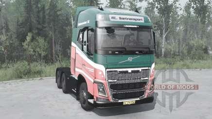 Volvo FH16 750 6x6 Globetrotter XL 2014 para MudRunner