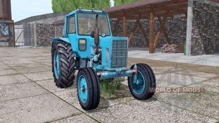 MTZ 80 Belarús tractor con cargador para Farming Simulator 2017