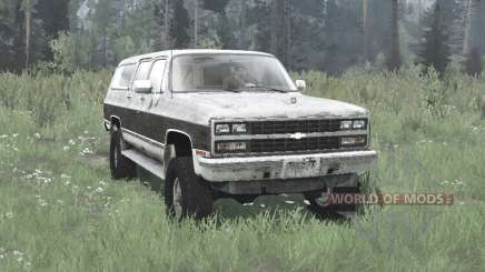 Chevrolet K1500 Suburban 1989 para MudRunner