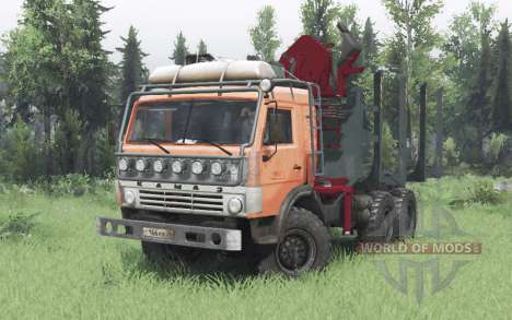KamAZ 43114 naranja v1.2 para Spin Tires