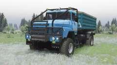KrAZ 260 4x4 moderadamente-azul para Spin Tires
