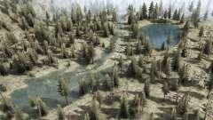Los ríos de las montañas y los lagos para MudRunner