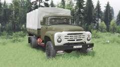 ZIL 130 4x4 verde v2.0 para Spin Tires