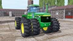 John Deere 8440 twin wheels para Farming Simulator 2017