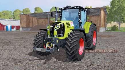 CLAAS Arion 650 ruedas gemelas para Farming Simulator 2015
