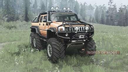 Hummer H2 SUT 6x6 v2.0 para MudRunner