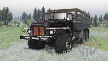 Ural 375 6x6 negro para Spin Tires
