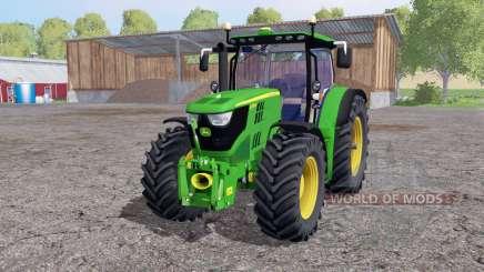 John Deere 6170R twin wheels para Farming Simulator 2015
