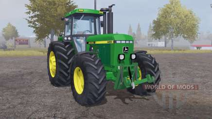 John Deere 4455 moderate lime green para Farming Simulator 2013