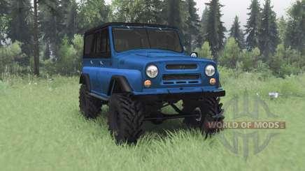 UAZ 469 negro-azul para Spin Tires
