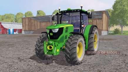 John Deere 6170R lime green para Farming Simulator 2015