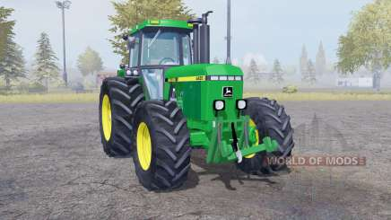 John Deere 4455 twin wheels para Farming Simulator 2013