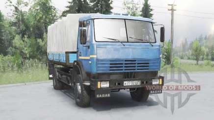 KamAZ 43253 azul para Spin Tires