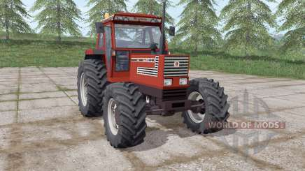 Fiatagri 140-90 Turbo DT de color rojo oscuro para Farming Simulator 2017